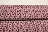 Stoff/Meterware ab 25cm / Ökotex 100 / Nicki Blumen rosa