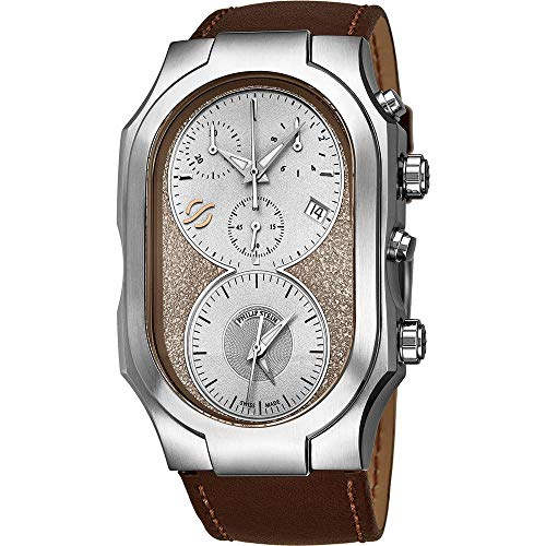 Philip Stein Men's Signature Leather Band Swiss Quartz Watch 300SBECRSTCH
