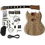GD510 acajou col et corps, échaufféérable Veneer Veneer supérieur guitare électrique à bricoler soi-même Kit pour Student and luthier projets