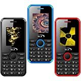 GLX W8 (Black,Blue,Red) 1.8 Inch Display COMBO OF THREE Basic Feature Mobile Phone With WIRELESS FM & 1 Year Manufacturer Warranty