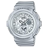 Casio Women's Baby G BGA195-8A Silver Rubber Quartz Sport Watch