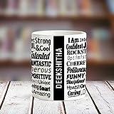 Huppme DEEKSHITHA Good Personality White Ceramic Coffee Name Mug