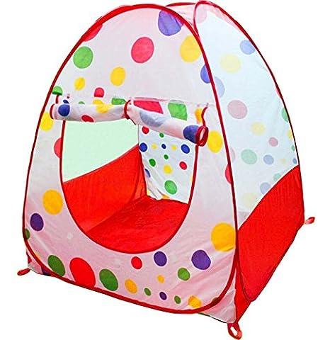 Pop Up Kids Play Tent Hideaway Portable Hut Folding Play House Toddler Ball Toy Indoor Outdoor Garden