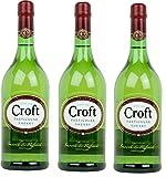 Croft Particular Vino D.O. Jerez Pale Cream - 3 Botellas x 1000 ml - Total: 3 l