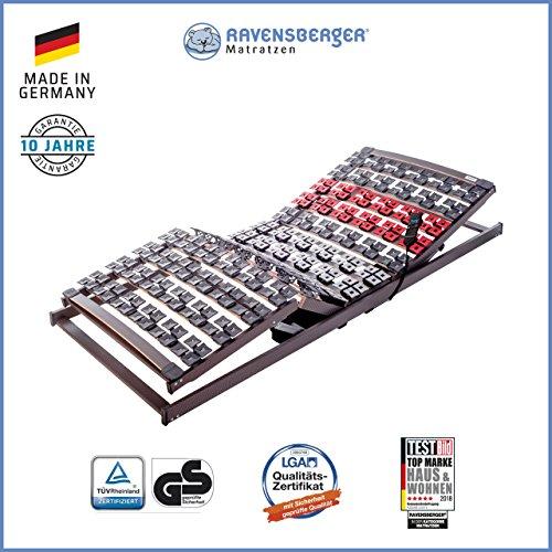 *RAVENSBERGER VARIFLEX® 5-Zonen Buche Systemtellerrahmen | Elektrisch | 4-Fach Segmentteller-Federelementen | Made IN Germany – 10 Jahre GARANTIE | 90 x 200 cm | Kabel-Fernbedienung*