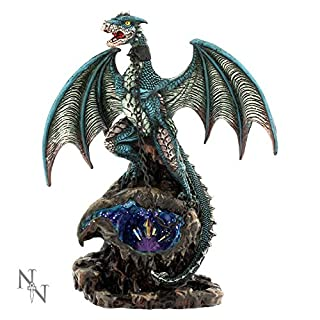 Nemesis Now Azurine Chained Dragon Figurine Ornament Statue Alator LED Range