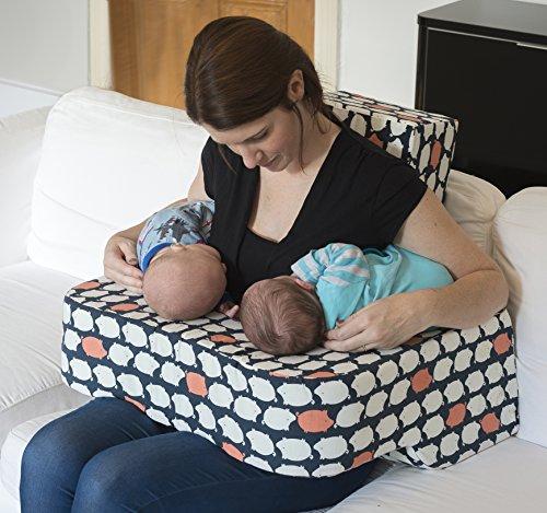 Cojín de lactancia para gemelos. Diseñado por una...
