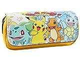 Estuche para lápices de Pokemon con dos compartimentos para niños...