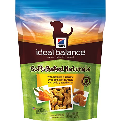 Hill's Ideal Balance Natural Dog Treats, Soft-Baked Naturals with Chicken & Carrots Soft Dog Treats, Healthy Dog Treats, 8 oz...