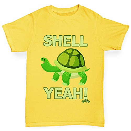 TWISTED ENVY Jungen T-Shirt Shell Yeah Turtle Print Age 12-14 Gelb