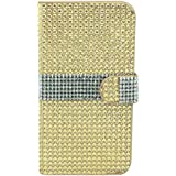 MM iPhone 6 Full Bling Wallet Case with 3 Credit Card Slots - Gold