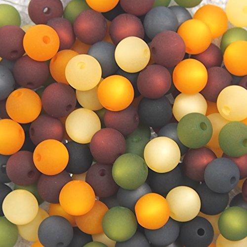 20 Stück echte original Polarisperlen Perlenmix Perlenmischung Perlen Perlenset 8 mm, mokka-oliv-safran, Perlen aus deutscher Produktion