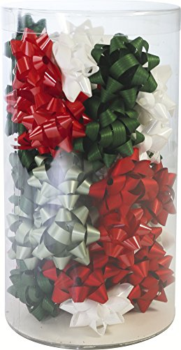 Clairefontaine 211396C Mini-tube de 50estrellas Navidad Tridi diámetro 5cm, 4colores surtidos