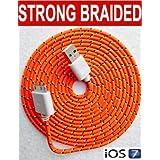 2m câble de chargeur/synchronisation USB résistant en nylon tressé pour iPhone 44S 3G 3GS iPad 2, 3par câbles et gadgets
