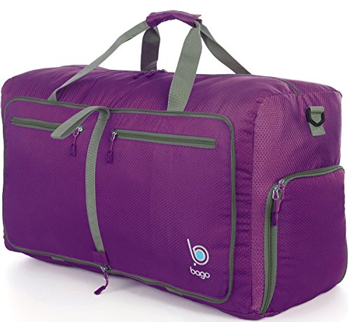 bago-duffle-bag-for-travel-luggage-gym-sport-camping-lightweight-foldable-into-itself-duffel-medium-