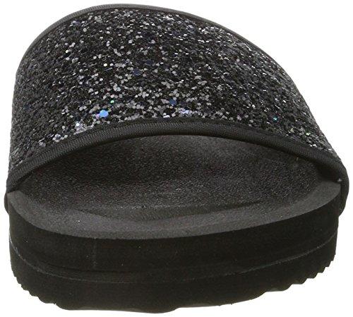 flip*flop Pool*Glitter, Scarpe Col Tacco Donna nero (nero)