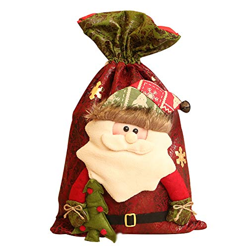 Drawihi 1pcs Bolsas Regalo Navidad Papá Noel Saco