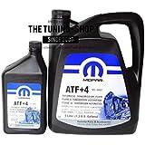 Mopar ATF + 4, 5 L + 0,946 L, Fluido de transmisión automática para Chrysler Dodge Jeep