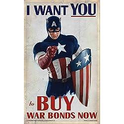 Poster Cartel Capitán América Vengadores Warbon(30cmx49cm)