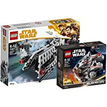 Star Wars Lego Imperial Patrol Battle Pack 75207 juguete + Lego 75193 – Millennium Falcon Micro Fighter, Juguete