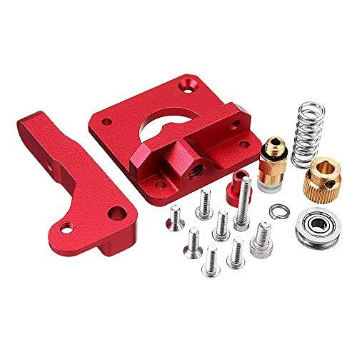 Vpqtettuecu 3D-Drucker Upgraded Fern Remote-Metall-Extruder + Leveling Spring + PETG Tube + MK10 Silicone Case Kit for Creality CR-10 Ender-3 3D-Drucker-Teile Zubehör -