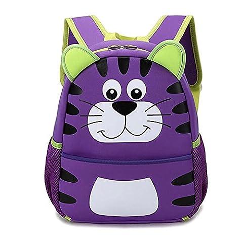 en néoprène étanche Chat mignon enfants Toddle Sac à dos repas isotherme Cooler léger pour filles garçons Lovely violet violet