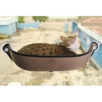 Myyxt Hamac de chat Meunier Cage de fenêtre Durable robuste Nid de demi-cercle Soleil , B
