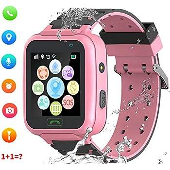 Montre Smart Watch GPS Tracker pour Enfants - Smartwatches pour Enfants IP67 étanche 1.4