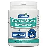 Colágeno Marino Hidrolizado y Vitamina C - 350mg por cápsula - 200...