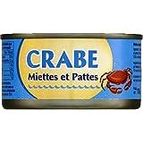 CRABE MIETTES ET PATTES 121G - ( Prix Unitaire ) Envoi Rapide Et Soignée