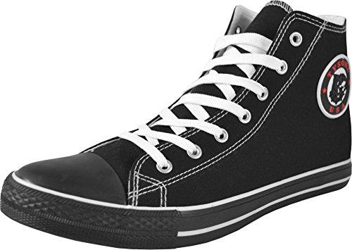 1-Paar-Tysonz-Canvas-Sneaker-Unisex-Erwachsene-Farbe-SchwarzSchwarz-Gre-45