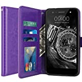 LG X Power 2 Hülle, LK Luxus PU Leder Brieftasche Flip Case Cover Schütz Hülle Abdeckung Ledertasche für LG X Power 2 (Lila)