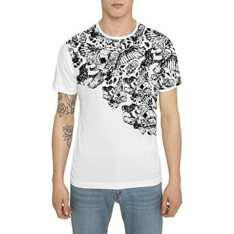 Camisetas para Hombre, T Shirt Cool Fashion Rock, Camiseta Negra Blanca Gris con Estampada Graffiti Tattoo - SPARTAN WARRIOR Designer T-shirt de Algodón, Cuello redondo, Manga corta, S M L XL