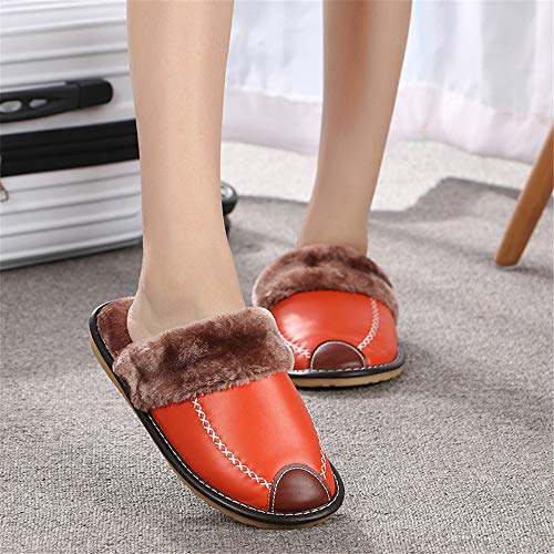 NIGHT WALL Slippers für Männer und Frauen, warm, Indoor, Baumwolle, Slippers, Indoor & Outdoor, Orange, EUEU37