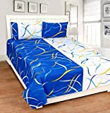 ZAIN Cotton Double Bed Sheet with 2 Pill...