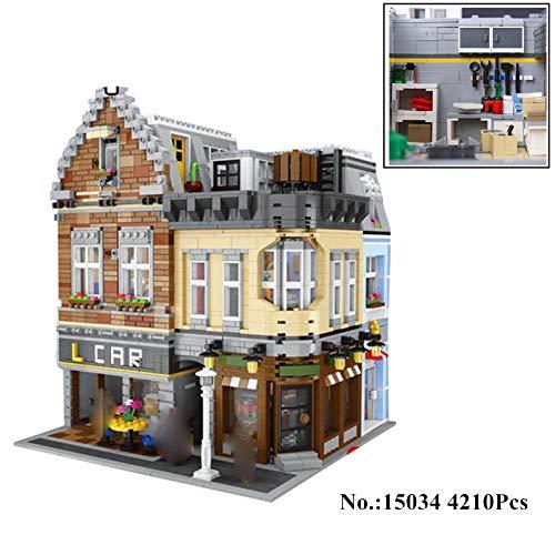 TGSEA 15034 4210 Stück Original Serie MOC Gebäude City Set Bausteine Ziegel LEPIN Spielzeug Modell