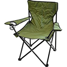 High Peak Stabiler Campingstuhl Stuhl Klappstuhl Regiestuhl Anglerstuhl oliv