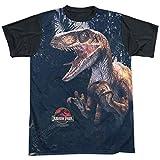 Jurassic Park Classic Dinosaur Movie Series Raptors - Maglietta da Adulto, Colore: Nero Bianco M