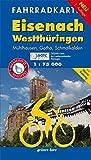 Fahrradkarte Eisenach, Westthüringen: Mit Mühlhausen, Gotha, Schmalkalden und Werra-Radweg. Offizielle Karte des ADFC-Landesverbandes Thüringen. ... reißfest.<br>Maßstab 1:75.000 (Fahrradkarten)