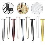 4x Natural Goods Berlin Hairpin Leg Tischbeine |12mm Stahl | viele Farben | alle Größen | 71cm/3Stangen (Schwarz)