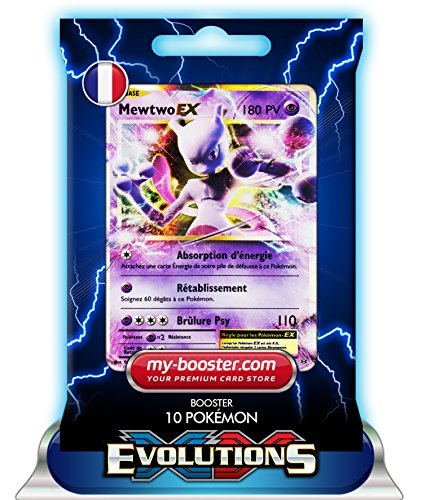 MEWTWO EX 52/108 180PV XY12 EVOLUTIONS - Booster de 10 cartes Pokemon francaises my-booster