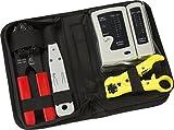 ML309–strutturato cavi dati & network installation tool kit include crimpatrice RJ45, tester per cavi con custodia da trasporto