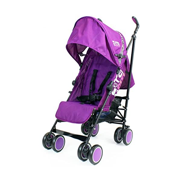 Zeta Citi Stroller Buggy Pushchair - Plum ZETA 12 Month FREE Warranty When Purchased and used from birth only. Warranty VOID If Purchased And Used For Babys Over 12 Months Lightweight stroller suitable for babies from Birth Umbrella fold for a compact folded size 3