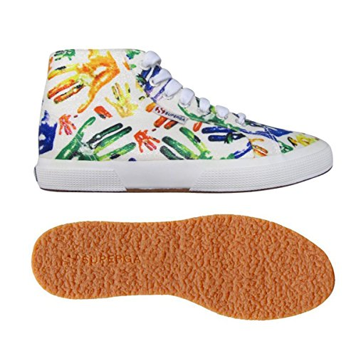 Chaussures Le Superga - 2795-lamehandsw WHITE-MULTICOLOR