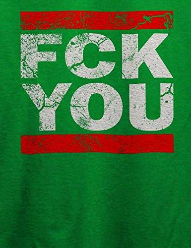 Fck You Vintage T-Shirt Grün