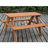 LIFE CARVER Kids Childrens 4 Seater Picnic Table - Wood Picnic Bench for Gardens Parks Schools and Pubs - Indoor Outdoor Heavy Duty Timber