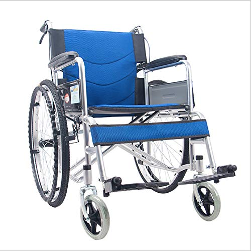 ZYYANG Rollstuhl Reisestuhl Behinderte ältere Roller Verstärkung Lampe Licht Transport Klapprollstuhl tragbar Rollstuhl