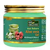 Indus Valley Bio Organic Hair Reborn Aloe Vera Gel With Bhringraj & Walnut