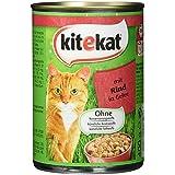 Kitekat Katzenfutter mit Rind in Gelee, 400 g