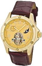 Comprar Aatos LuciusLGG - Reloj de caballero automático, correa de piel color marrón, caja de metal bañado en oro